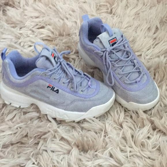 purple suede fila shoes \u003e Clearance shop